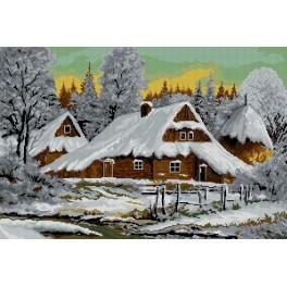Winter landscape - Cross Stitch pattern