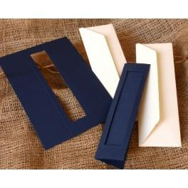 Bookmarks with a rectangular passe-partout navy blue