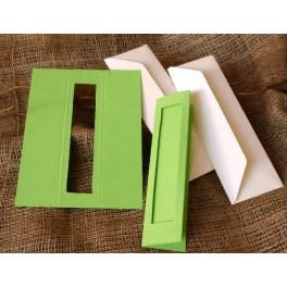 Bookmarks with a rectangular passe-partout lt green