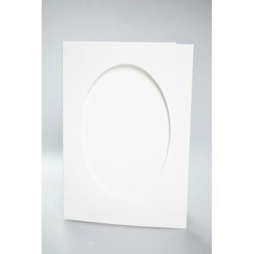 Big card with an oval passe-partout white