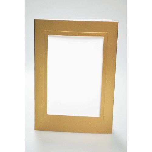 Big card with a rectangular passe-partout gold