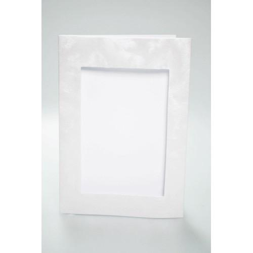 940-03 Big card with a rectangular passe-partout pearly