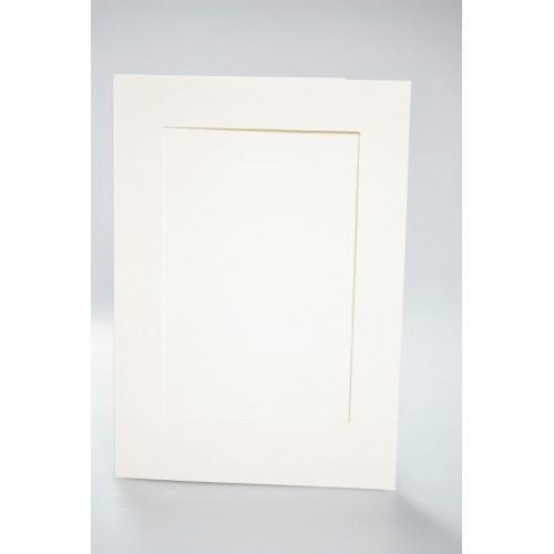 944-01 Big card with a rectangular passe-partout cream