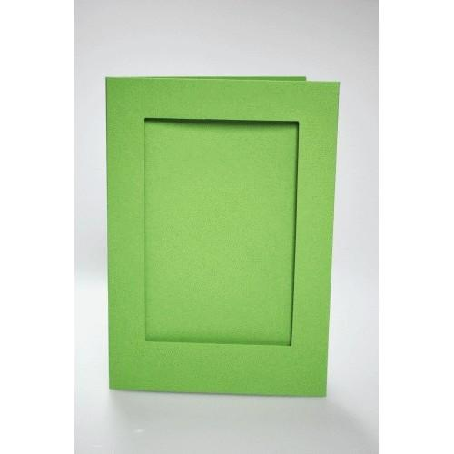 944-05 Big card with a rectangular passe-partout lt green