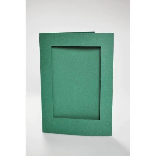 944-06 Big card with a rectangular passe-partout dk green