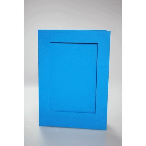 944-07 Big card with a rectangular passe-partout blue