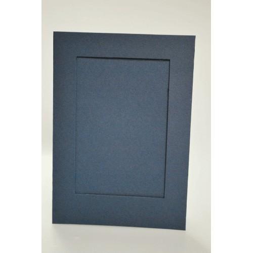 944-08 Big card with a rectangular passe-partout navy blue