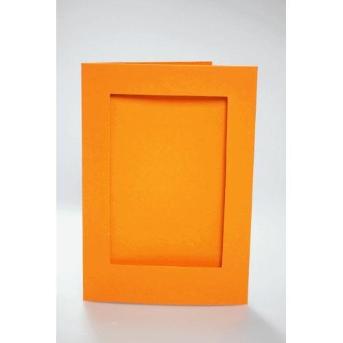 944-10 Big card with a rectangular passe-partout orange
