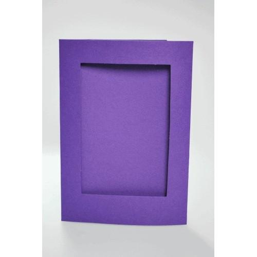 Big card with a rectangular passe-partout purple