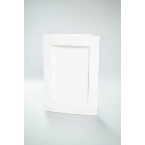 Cards with a rectangular passe-partout white
