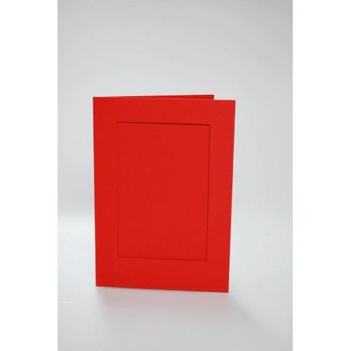 946-02 Cards with a rectangular passe-partout red