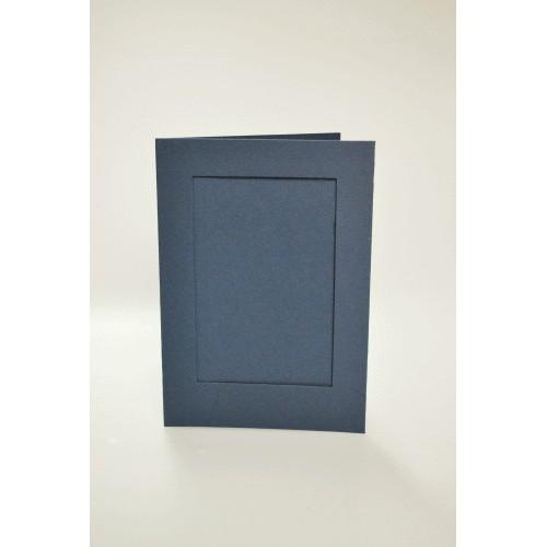 946-03 Cards with a rectangular passe-partout navy blue