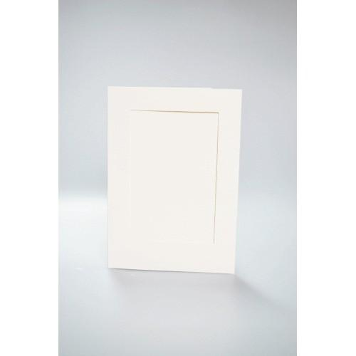 Cards with a rectangular passe-partout cream