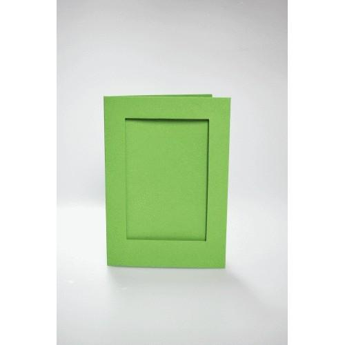 946-05 Cards with a rectangular passe-partout lt green