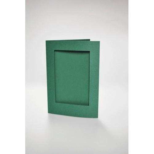 946-06 Cards with a rectangular passe-partout dk green