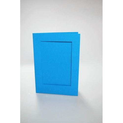 946-07 Cards with a rectangular passe-partout blue