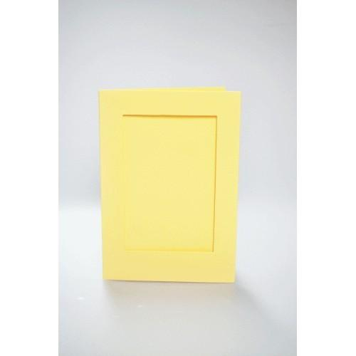 Cards with a rectangular passe-partout yellow