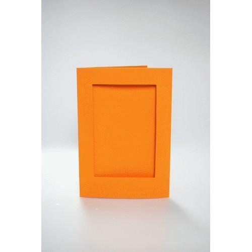 946-10 Cards with a rectangular passe-partout orange