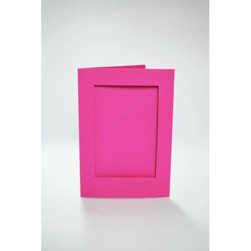 Cards with a rectangular passe-partout pink