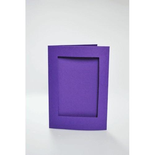 Cards with a rectangular passe-partout purple