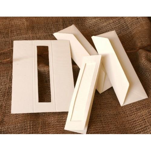 Bookmarks with a rectangular passe-partout cream