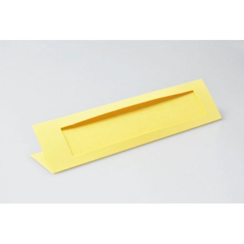 Bookmarks with a rectangular passe-partout yellow