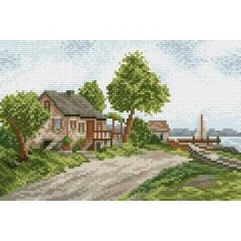 By the lake - Tapestry canvas