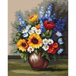 Wild flowers - B. Sikora-Malyjurek - Tapestry canvas