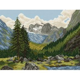 Mountain valley - Tapestry canvas