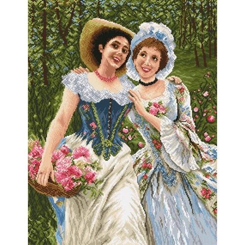 Ladies in the garden - Cross Stitch pattern
