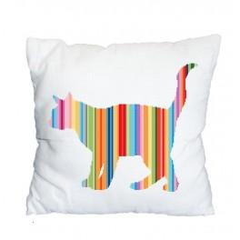 Wzór graficzny online - Poduszka - Tęczowy kot
