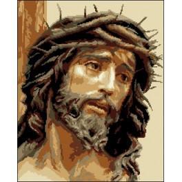 Kanwa z nadrukiem - Jezus w koronie cierniowej