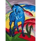 Blue horse - F. Marc - Tapestry aida