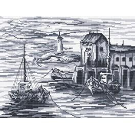 Fishing boats - Tapestry aida