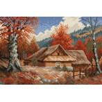 An autumn cottage - S. Sikora - Tapestry aida