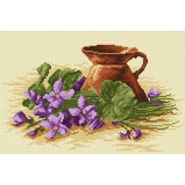 Violets at the jug - Tapestry aida