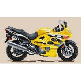 Motorcycle – golden gale - Tapestry aida
