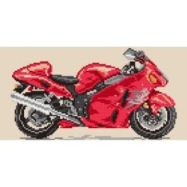 Motorcycle - fire tornado - Tapestry aida