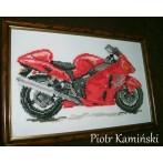 Motorcycle - fire tornado - Tapestry aida