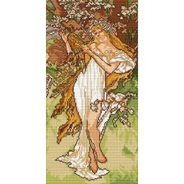 A. Mucha - Spring - Tapestry aida