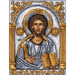 Icon- Christ Pantokrator - Tapestry aida