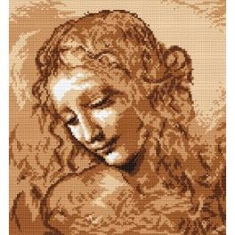 L. da Vinci - Female head - Tapestry aida