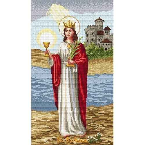 St. Barbara - Tapestry aida