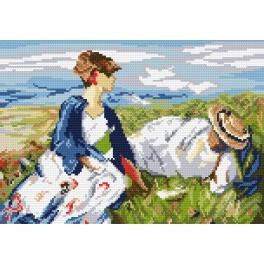 F. Marc - Two Women on the Hillside - Tapestry aida
