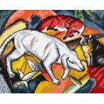 F. Marc - Dog, fox and cat - Tapestry aida