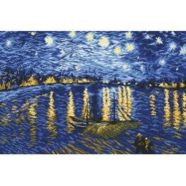 Starry Night Over the Rhone - V. van Gogh - Tapestry aida