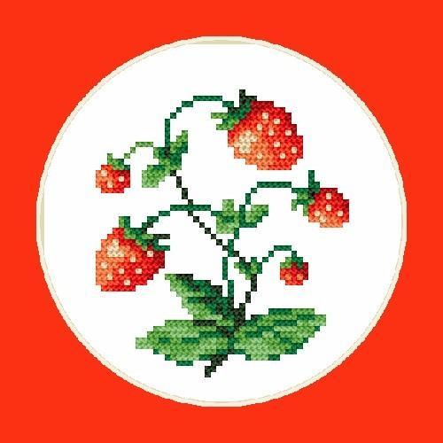 Sweet strawberies - B. Sikora-Malyjurek - Tapestry aida