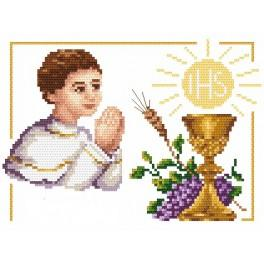 First Holy Communion - Boy - Tapestry aida