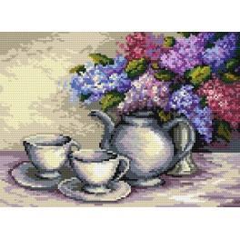 Still live with lilac - B. Sikora-Malyjurek - Tapestry aida