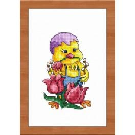 Easter chick - Tapestry aida